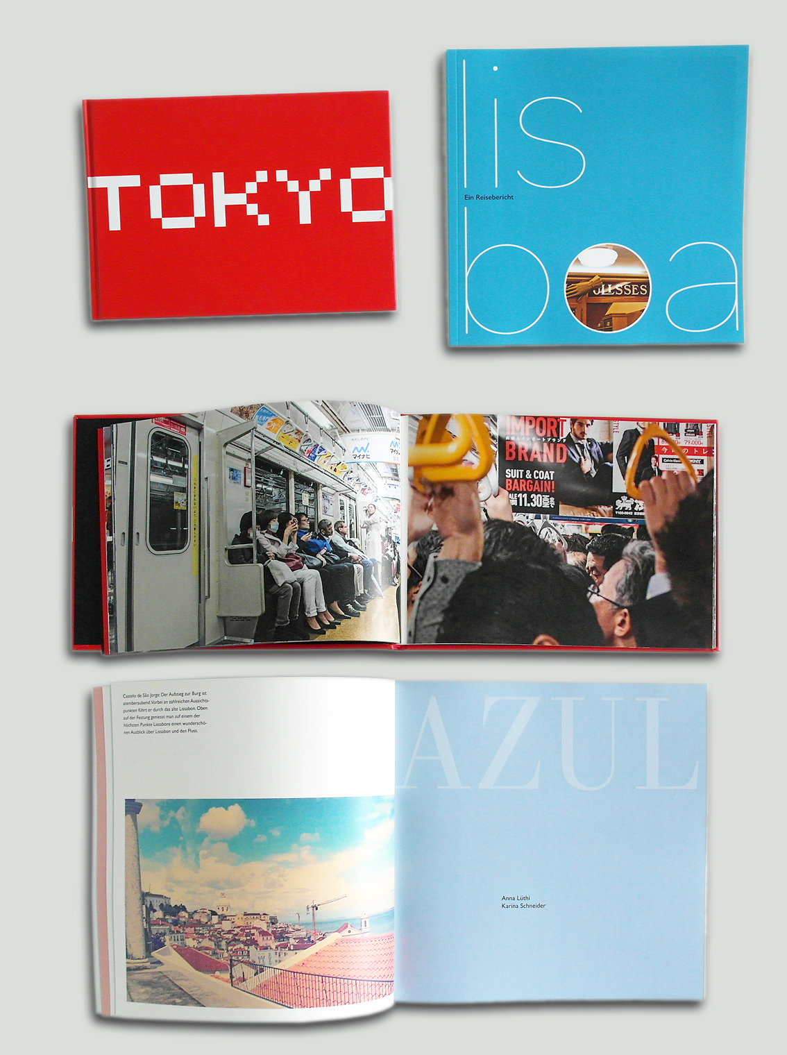 Booklets Tokyo and Lissabon